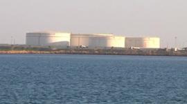 Iranian oil facility