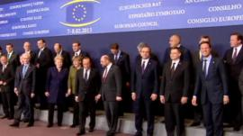 Eu leaders at photoshoot