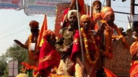 Kumbh Allahabad Hindi Saints procession
