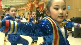 Children in China prepare for the New Year Gala