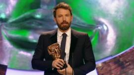 Ben Affleck with Bafta award