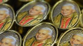 Pope Benedict XVI badges