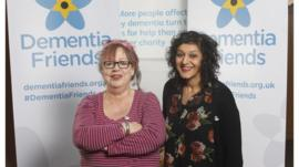 Jo Brand and Meera Syal become 'dementia friends'.