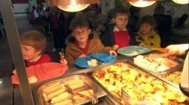 Children at St John's Primary School, Stafford