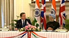 PM David Cameron and Manmohan Singh