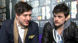 Marcus Mumford and Winston Marshall