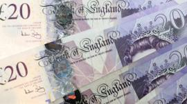 Twenty-pound notes