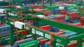 Container port in Taiwan
