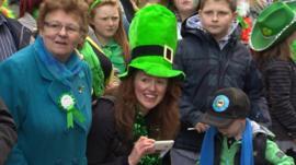 St Patrick's Day crowd