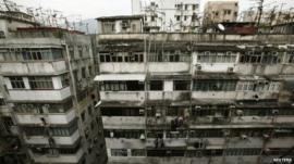 Cramped housing in Hong Kong