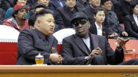 Kim Jong Un and Dennis Rodman