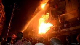 Karachi blast site
