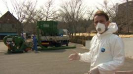 Rupert Wingfield-Hayes inside contamination zone near Fukushima