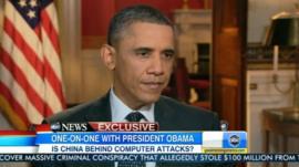 President Barack Obama speaks to ABC News