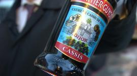 Bottle of cassis