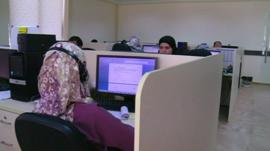 Tech workers in the Palestinian territories