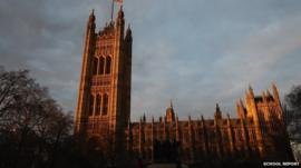 Students visit the Houses of Parliament