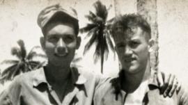 WWII photo of Maharidge and Mulligan