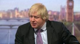 Boris Johnson on The Andrew Marr Show