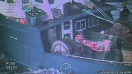 US coastguard rescue footage