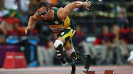 Six time Paralympic gold medallist Oscar Pistorius
