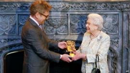 The Queen receives an honorary Bafta from actor and director Kenneth Branagh