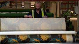 Carpet factory worker