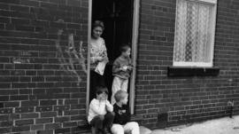 Miner's family in Grimethorpe, Yorkshire, in 1993