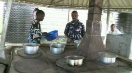 The community cooker in Naivasha, Kenya