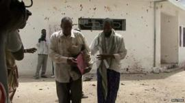 Man apparently wounded, leaving Mogadishu courthouse