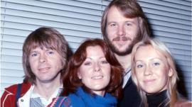 Bjorn Ulvaeus, Anni Frid Lyngstad, Benny Andersson and Agnetha Faltskag.