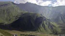 Mountains in Russia's Caucasus region