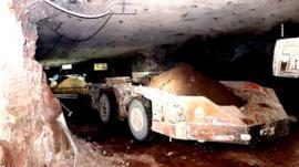 Inside a potash mine