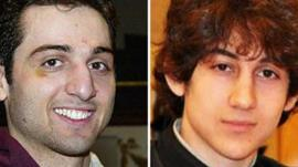 Tamerlan Tsarnaev - February 2010 photo (left) and undated photo of Dzhokhar Tsarnaev