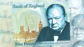 Bank of England Churchill banknote design