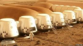 Artist impression of Mars One