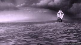 The Mayflower at sea