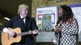 Boris Johnson and Misha B