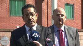 Nazir Afzal and DCI Neil Esseen