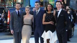 Star Trek stars on red carpet