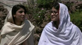 Swat students Shazia Ramazan and Kainat Riaz
