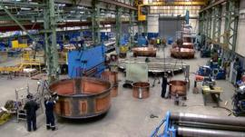 Factory making copper vats