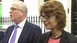 Vicky Pryce and her lawyer
