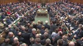 MPs vote in House of Commons