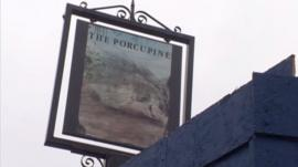 The Porcupine pub recently closed