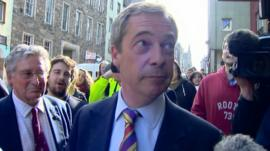 Nigel Farage in Edinburgh