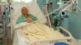 Alexander Litvinenko in hospital before his death in 2006