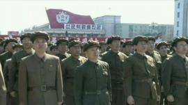 Members of the North Korean military