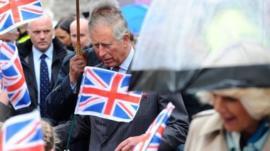 Prince Charles and Camilla at Hay-on-Wye