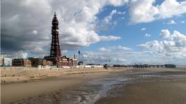 A Blackpool beach